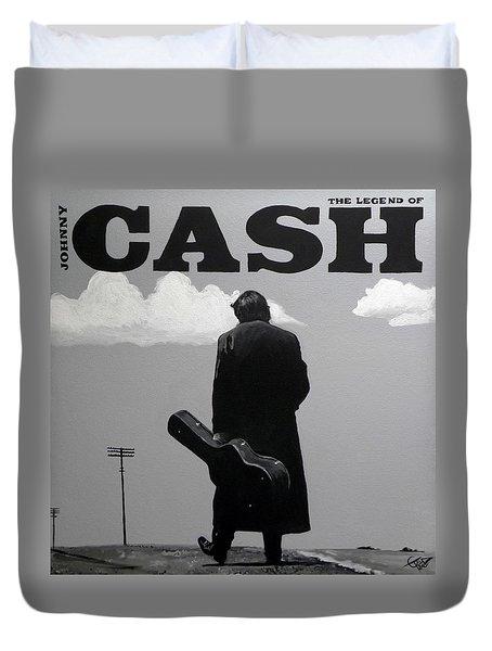 Johnny Cash Duvet Cover by Tom Carlton