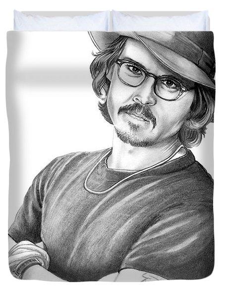 Johnny Depp Duvet Cover by Murphy Elliott