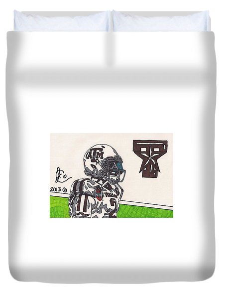 Johnny Manziel 13 Duvet Cover by Jeremiah Colley