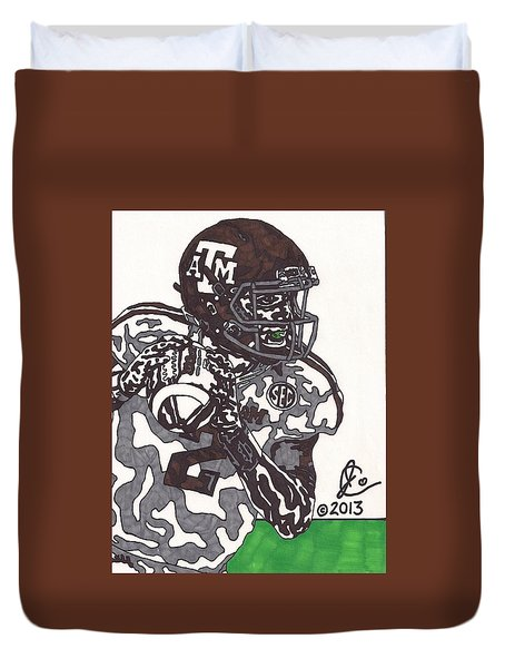 Johnny Manziel 8 Duvet Cover by Jeremiah Colley
