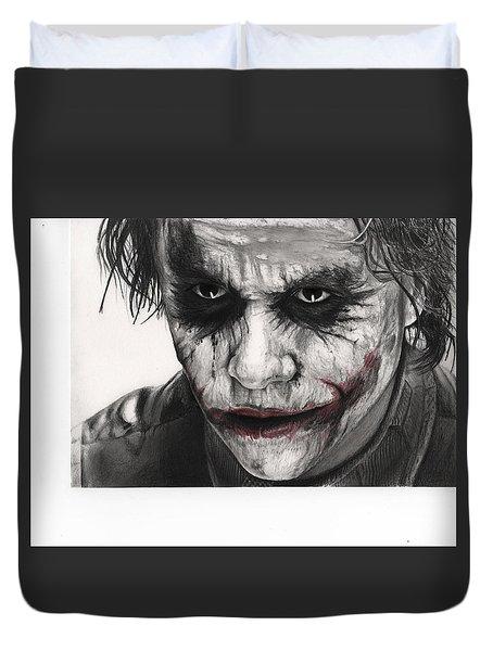 Joker Face Duvet Cover by James Holko