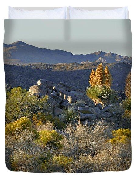 Joshua Tree National Park in California Duvet Cover by Christine Till