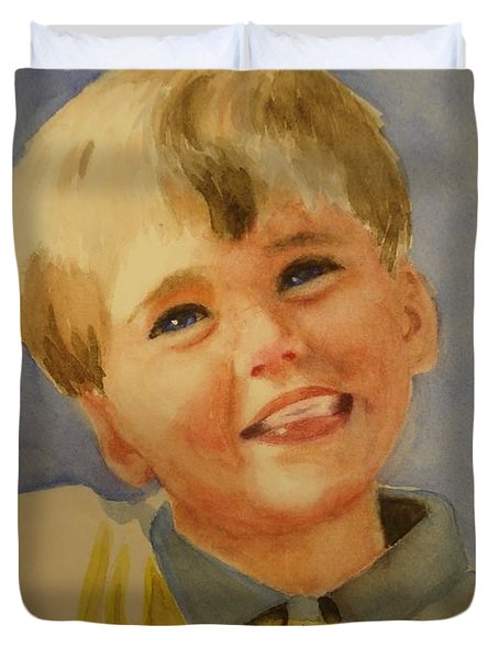 Joshua's Brother Duvet Cover by Marilyn Jacobson