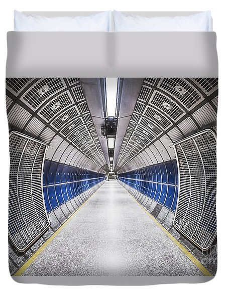Journey To The Center Of Your Mind Duvet Cover by Evelina Kremsdorf