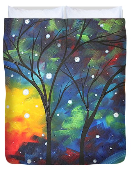 Joy By Madart Duvet Cover by Megan Duncanson