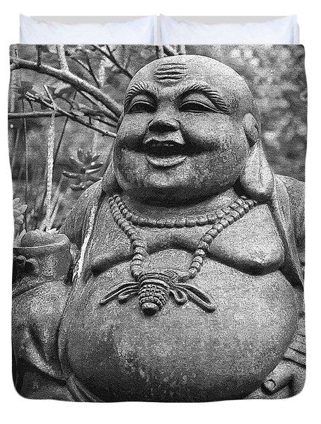 Joyful Lord Buddha Duvet Cover by Karon Melillo DeVega
