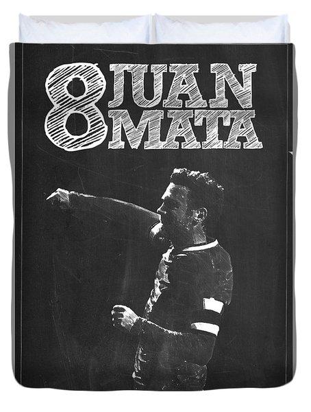 Juan Mata Duvet Cover by Semih Yurdabak