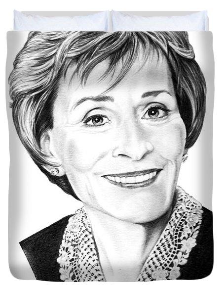Judge Judith Sheindlin Duvet Cover by Murphy Elliott