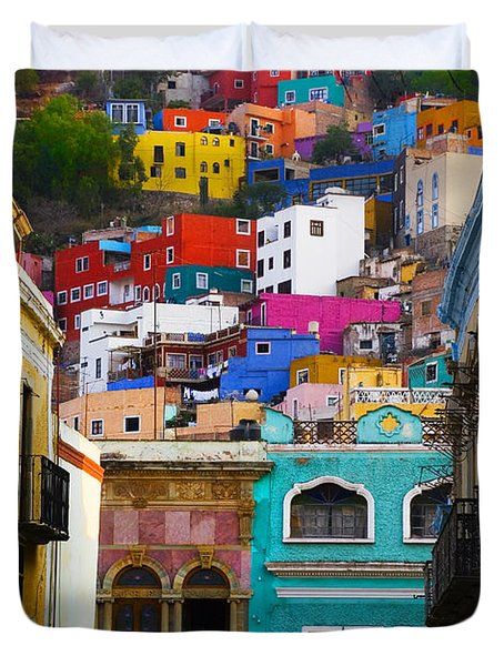 Juegos In Guanajuato Duvet Cover by Skip Hunt