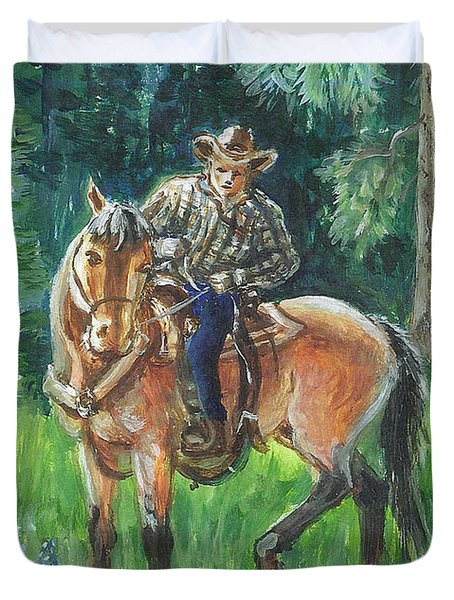 Juel Riding Chiggy-bump Duvet Cover by Dawn Senior-Trask