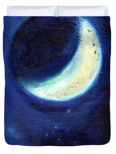 July Moon Duvet Cover by Nancy Moniz