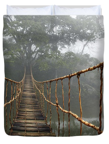 Jungle Journey 2 Duvet Cover by Skip Nall