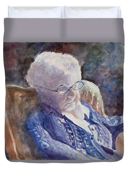 Just Resting My Eyes Duvet Cover by Mary Benke