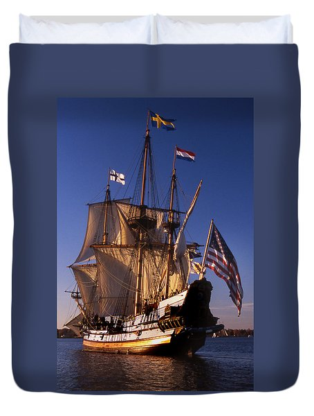 Kalmar Nyckel Duvet Cover by Skip Willits