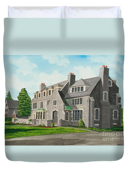 Kappa Delta Rho South View Duvet Cover by Charlotte Blanchard