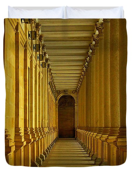 Karlovy Vary Colonnade Duvet Cover by Juergen Weiss