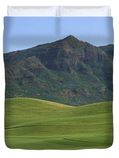 Kauai Marriott Golf Cours Duvet Cover by William Waterfall - Printscapes