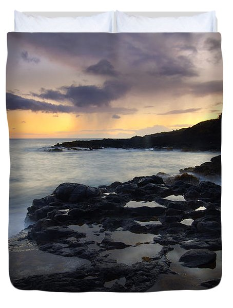 Kauai Storm Passing Duvet Cover by Mike  Dawson