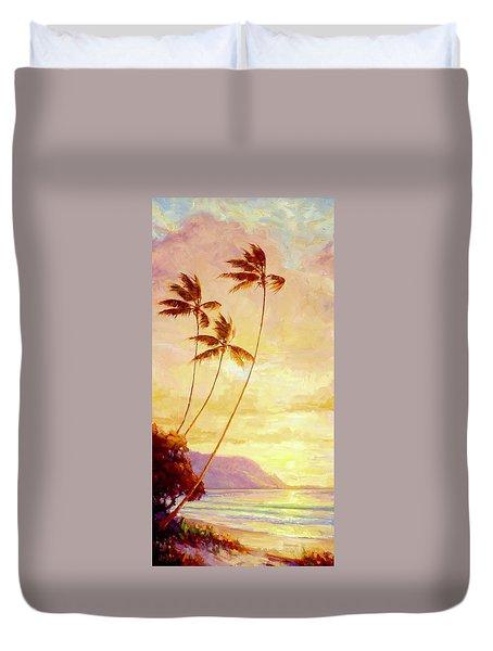 Kauai Sunset Duvet Cover by Jenifer Prince
