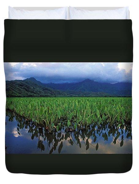 Kauai Taro Field Duvet Cover by Kathy Yates