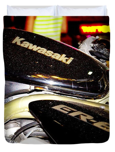 kawasaki Duvet Cover by Stylianos Kleanthous