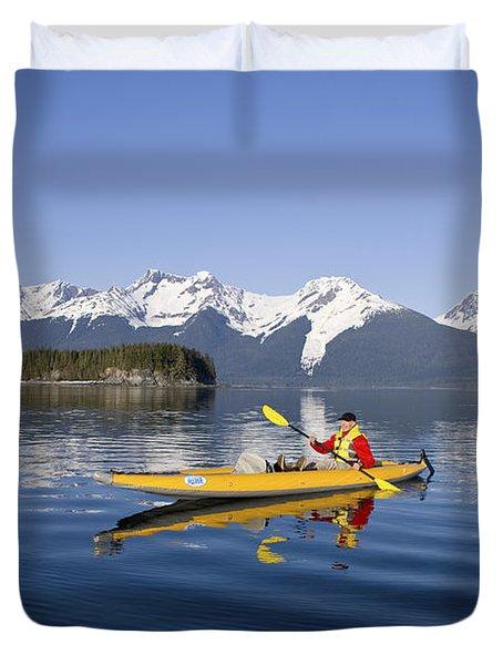 Kayaking Favorite Passage Duvet Cover by John Hyde - Printscapes