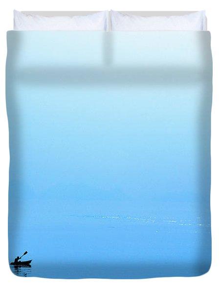 Kayaking Duvet Cover by Skip Nall