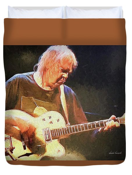 Keep On Rockin In The Free World Duvet Cover by Dennis Baswell