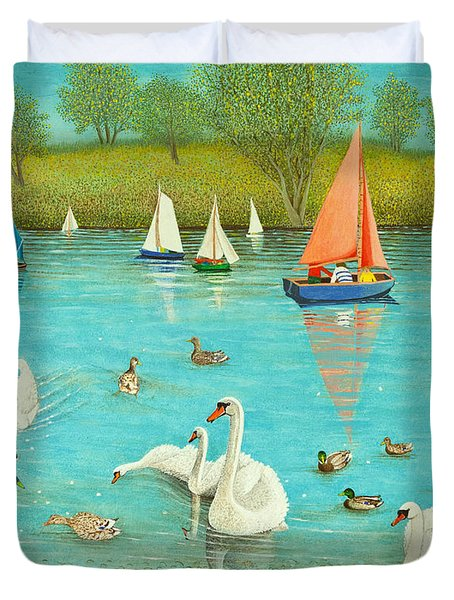 Keeping A Watchful Eye Duvet Cover by Pat Scott