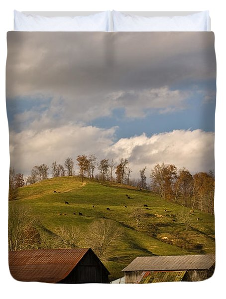 Kentucky Mountain Farmland Duvet Cover by Douglas Barnett