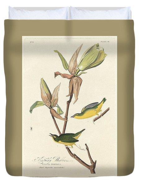 Kentucky Warbler Duvet Cover by John James Audubon
