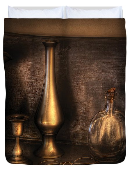 Kettle - Ready For A Drink Duvet Cover by Mike Savad
