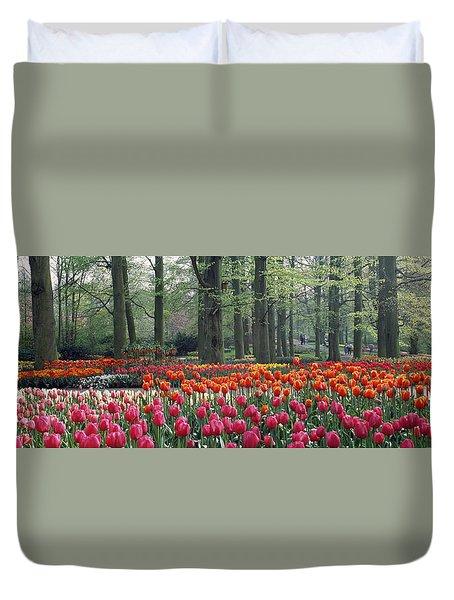 Keukenhof Garden, Lisse, The Netherlands Duvet Cover by Panoramic Images