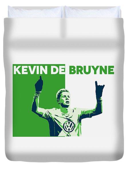 Kevin De Bruyne Duvet Cover by Semih Yurdabak