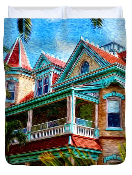 Key West Southern Most Hotel Duvet Cover by Bill Cannon