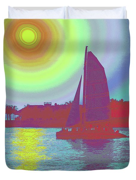 Key West Sun Duvet Cover by Steven Sparks