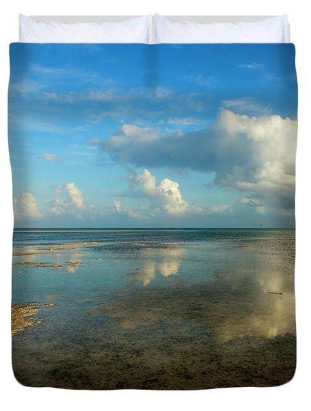 Keys Reflections Duvet Cover by Mike  Dawson