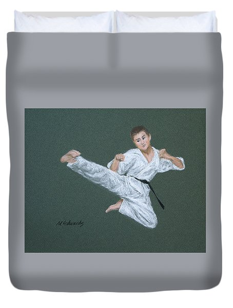 Kick Fighter Duvet Cover by Marna Edwards Flavell