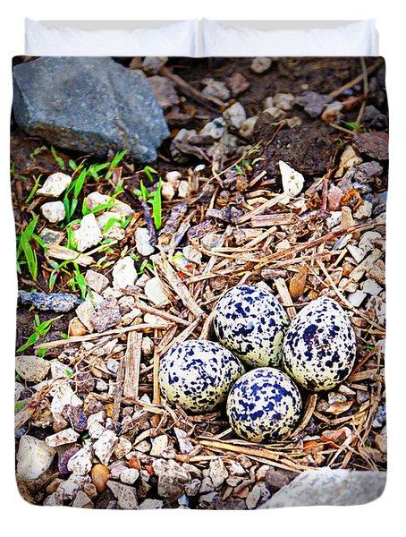 Killdeer Nest Duvet Cover by Cricket Hackmann