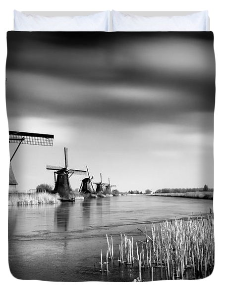 Kinderdijk Duvet Cover by Dave Bowman