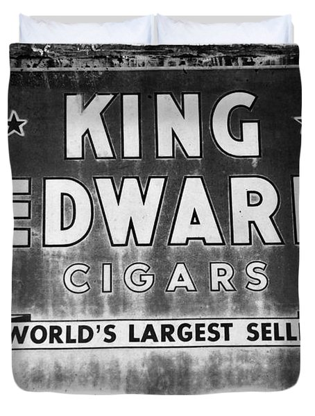 King Edward Cigars Duvet Cover by David Lee Thompson