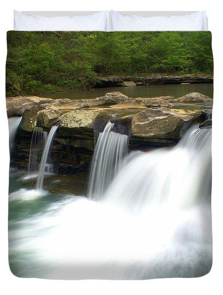 King River Falls Duvet Cover by Marty Koch