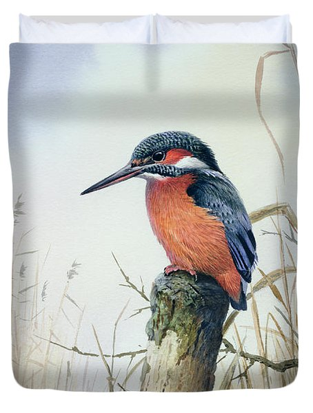 Kingfisher Duvet Cover by Carl Donner
