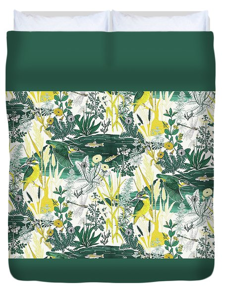 Kingfisher Duvet Cover by Jacqueline Colley