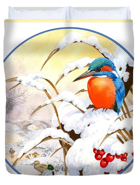 Kingfisher Plate Duvet Cover by John Francis
