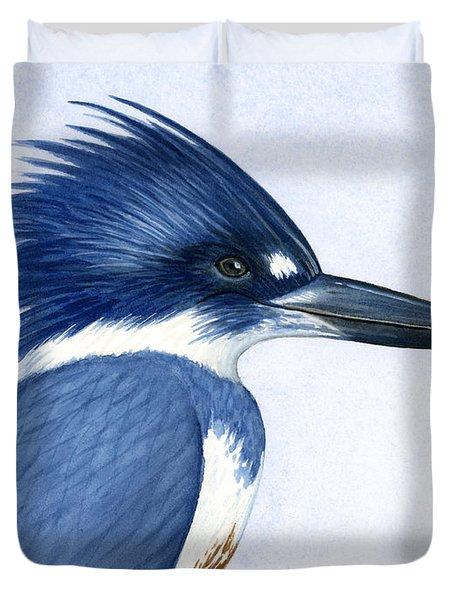 Kingfisher Portrait Duvet Cover by Charles Harden