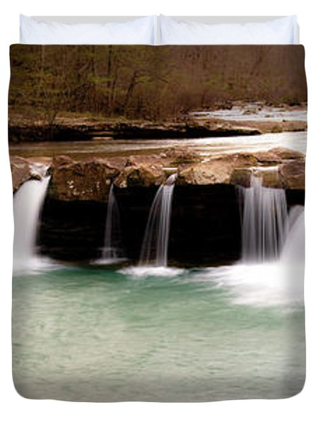 King's River Panorama Duvet Cover by Tamyra Ayles
