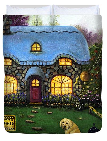 Kinkade's Worst Nightmare 2  Duvet Cover by Leah Saulnier The Painting Maniac