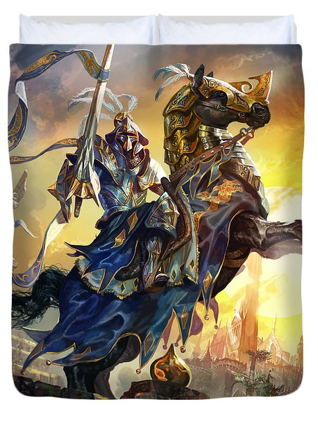 Knight Of New Benalia Duvet Cover by Ryan Barger