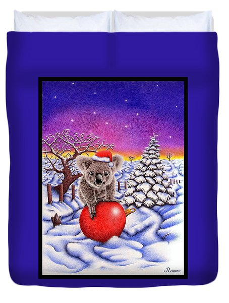 Koala On Ball Duvet Cover by Remrov